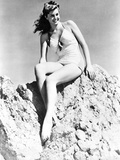 Esther Williams in V Neck Posed on Rocks Photo by  Movie Star News