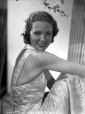Eleanor Powell on an Embroidered Dress and sitting Photo af Movie Star News