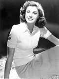 Esther Williams Seated in Black and White Photo by  Movie Star News