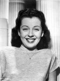 Gail Russell smiling in Shirt with Necklace Photo by  Movie Star News