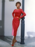 Eartha Kitt in Red Long Dress Photo by  Movie Star News