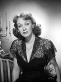 Eve Arden Portrait in Lace V-Neck Dress with Necklace Photo by  Movie Star News