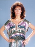 Erin Gray Posed in Green Dress Photo by  Movie Star News