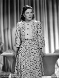 Gracie Allen smiling wearing White Dress with Black Heels Photo by  Movie Star News