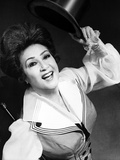Ethel Merman Looking Up in Black and White Photo by  Movie Star News