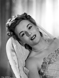 Eva Gabor on a Wedding Gown Leaning Portrait Photo by  Movie Star News