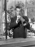 Harry James Playing Trumpet with Black Suit Photo by  Movie Star News