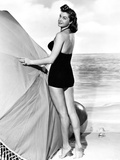 Esther Williams Looking Back in Black and White Photo by  Movie Star News
