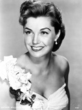 Esther Williams on White Tube Gown with Flowers Look Away Pose Photo by  Movie Star News