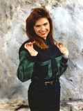 Heather Langenkamp Posed in a Green and Black Blouse Photo by  Movie Star News