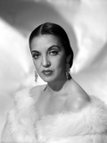 Katy Jurado wearing White Furry Outfit Photo by  Movie Star News