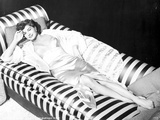 Esther Williams Lying in Black and White Photo by  Movie Star News