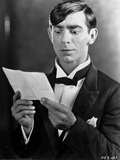 Eddie Cantor Reading in Black and White Photo by  Movie Star News