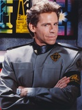 Jeff Conaway as Zach Allan in Babylon 5 in Black Long Sleeve Uniform with Arms Crossed Photo by  Movie Star News