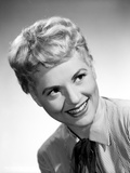 Judy Holliday on a Stripe Top smiling Portrait Photo by  Movie Star News