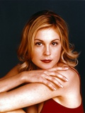 Kelly Rutherford in Red Gown Close Up Portrait Photo by  Movie Star News
