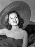 Faith Domergue in Floppy Beach Hat Photo by  Movie Star News