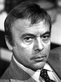 Herbert Lom Looking Serious in Suit With Black and White Background Photo by  Movie Star News