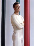 Keir Dullea Posed in White Tights Photo by  Movie Star News