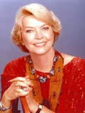 Ellen Burstyn smiling in Red Dress Close Up Portrait Photo by  Movie Star News