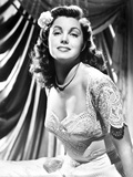 Esther Williams in Embroidered Lace Dress Photo by  Movie Star News