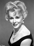 Eva Gabor on a Dress with Pearl Necklace and Earrings Photo by  Movie Star News