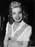 Gloria DeHaven Red lipstick, Curly Hair smiling Photo by  Movie Star News