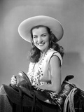 Ella Raines smiling in Cowgirl Outfit Photo by  Movie Star News