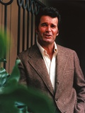 James Garner Portrait in Grey Corduroy Blazer with Right Hand on the Pocket Photo by  Movie Star News