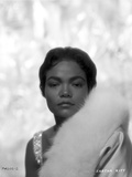 Eartha Kitt Portrait in Feather Coat Photo by  Movie Star News
