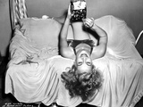 Eva Gabor Lying Upside Down Pose Photo by  Movie Star News