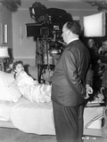 Hitchcock Alfred Filming a Lady on Bed Photograph Print Photo by  Movie Star News