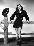 Gail Russell smiling in Western Outfit Photo by  Movie Star News