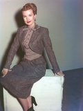Gale Storm Posed in Gray Suit Portrait Photo by  Movie Star News