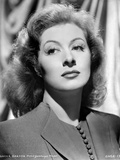 Greer Garson on a Blazer Black and White Portrait Photo by  Movie Star News