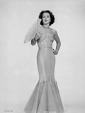 Hedy Lamarr In a Dress with Fan Photo by  Movie Star News