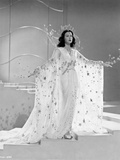 Hedy Lamarr In a Beaded White Gown Photo by  Movie Star News