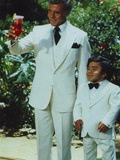 Fantasy Island Mr Roarke and Tatoo in White Suit Photographie par  Movie Star News