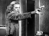 Gena Rowlands Holding Pistol in Classic Photo by  Movie Star News