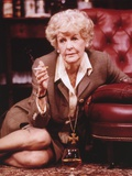 Elaine Stritch sitting while Smoking Portrait Photo by  Movie Star News