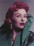 Jeanne Grain in Green Coat Close Up Portrait Photo by  Movie Star News