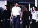 Hugh Jackman wearing White Shirt on X-Men Movie Photo by  Movie Star News