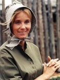 Eva Saint in Maid Outfit Portrait Photo by  Movie Star News