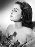 Faith Domergue Head and Shoulder Portrait in Pearl Earring Photo by  Movie Star News