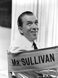 Ed Sullivan Seated in Black and White Photo by  Movie Star News