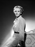 Frances Farmer on a Long Sleeve Top and Leaning Photo by  Movie Star News