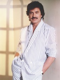 Engelbert Humperdinck posed in Stripe Robe Photo by  Movie Star News