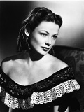 Gene Tierney Posed in Black Dress with Dark Background Photo by  Movie Star News