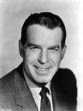 Fred MacMurray smiling in Black Classic Portrait Photo by  Movie Star News