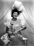 Helen Morgan on a Dress and smiling Photo by  Movie Star News